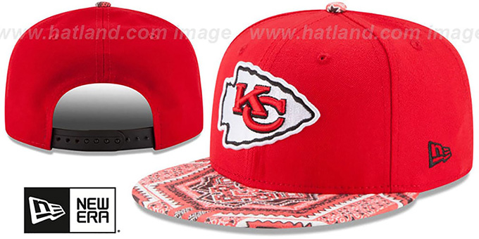 Chiefs 'KALEIDOVIZE SNAPBACK' Red Hat by New Era : pictured without stickers that these products are shipped with