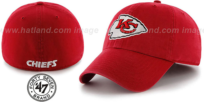 Chiefs 'NFL FRANCHISE' Red Hat by 47 Brand : pictured without stickers that these products are shipped with