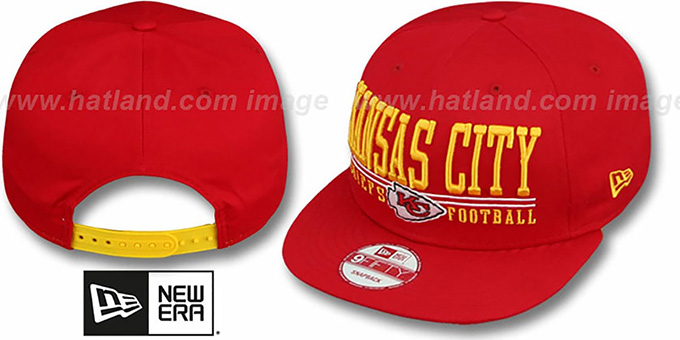 Chiefs 'NFL LATERAL SNAPBACK' Red Hat by New Era : pictured without stickers that these products are shipped with