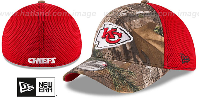 Chiefs 'REALTREE NEO MESH-BACK' Flex Hat by New Era : pictured without stickers that these products are shipped with