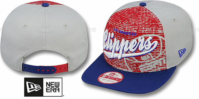 Clippers 'ESPN BRICK A-FRAME SNAPBACK' Hat by New Era : pictured without stickers that these products are shipped with