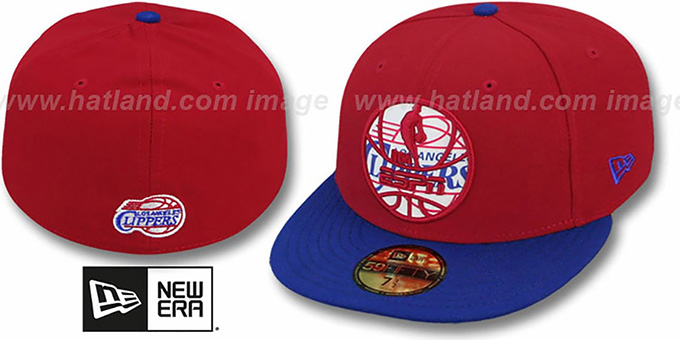 Clippers 'ESPN INNER LOCKED' Red-Royal Fitted Hat by New Era : pictured without stickers that these products are shipped with