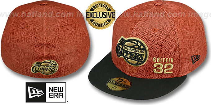 Clippers GRIFFIN 'BASKET-BALLIN' Fitted Hat by New Era : pictured without stickers that these products are shipped with