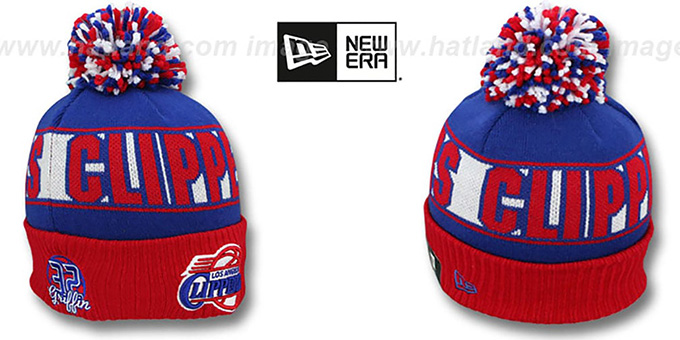 Clippers GRIFFIN 'REP-UR-TEAM' Knit Beanie Hat by New Era : pictured without stickers that these products are shipped with