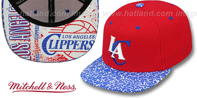 Clippers 'IN-THE-STANDS SNAPBACK' Hat by Mitchell and Ness : pictured without stickers that these products are shipped with