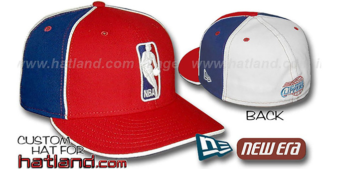 Clippers 'LOGOMAN-2' Red-Royal-White Fitted Hat by New Era : pictured without stickers that these products are shipped with
