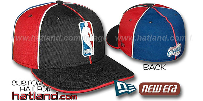 Clippers 'LOGOMAN-3' Black-Red-Royal Fitted Hat by New Era : pictured without stickers that these products are shipped with