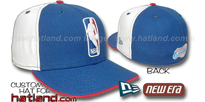 Clippers 'LOGOMAN' Royal-White Fitted Hat by New Era : pictured without stickers that these products are shipped with