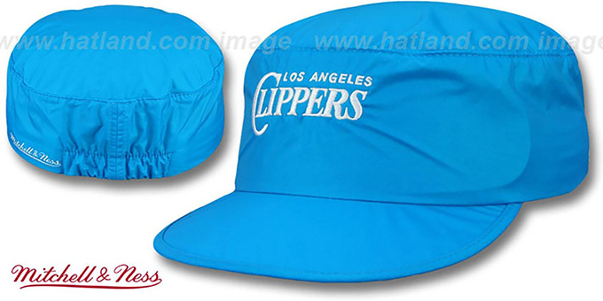 Clippers 'NEON PAINTER' Blue Hat by Mitchell and Ness : pictured without stickers that these products are shipped with