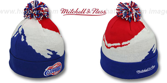 Clippers 'PAINTBRUSH BEANIE' by Mitchell and Ness : pictured without stickers that these products are shipped with