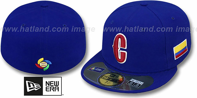 Colombia 'PERFORMANCE WBC' Royal Hat by New Era : pictured without stickers that these products are shipped with