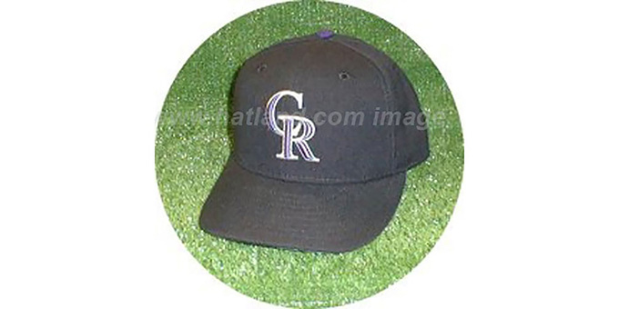 Colorado Rockies 'GAME' Hat : pictured without stickers that these products are shipped with