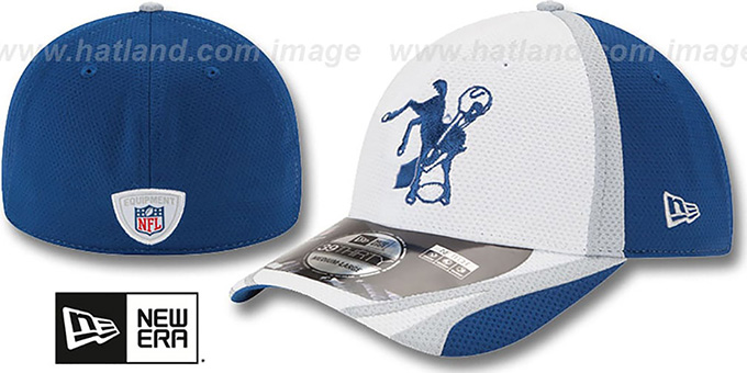 Colts '2014 NFL TRAINING FLEX' White Hat by New Era : pictured without stickers that these products are shipped with
