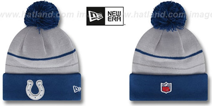 Colts 'THANKSGIVING DAY' Knit Beanie Hat by New Era : pictured without stickers that these products are shipped with