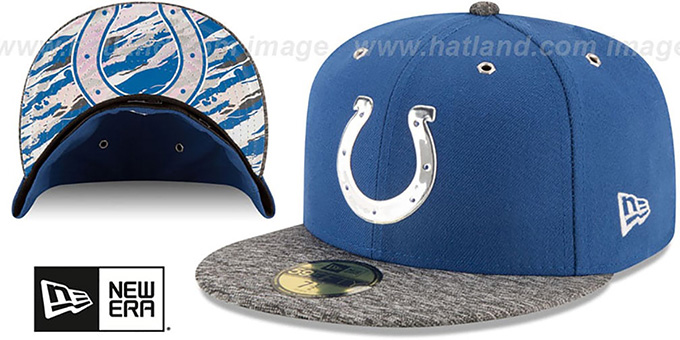 Colts '2016 NFL DRAFT' Fitted Hat by New Era : pictured without stickers that these products are shipped with