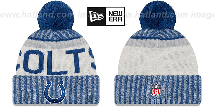 3c02d3da58b Indianapolis Colts 2017 STADIUM BEANIE Royal Knit Hat