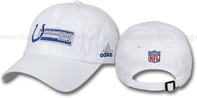 Colts 'EXEMPTION' Hat by adidas : pictured without stickers that these products are shipped with