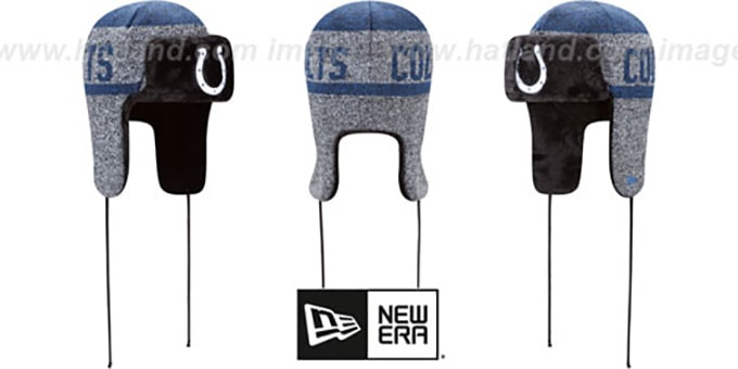 Colts 'FROSTWORK TRAPPER' Royal Knit Hat by New Era