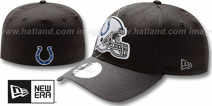 Colts 'NFL BLACK-CLASSIC FLEX' Hat by New Era : pictured without stickers that these products are shipped with