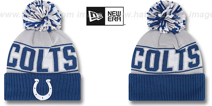 Colts 'REP-UR-TEAM' Knit Beanie Hat by New Era : pictured without stickers that these products are shipped with