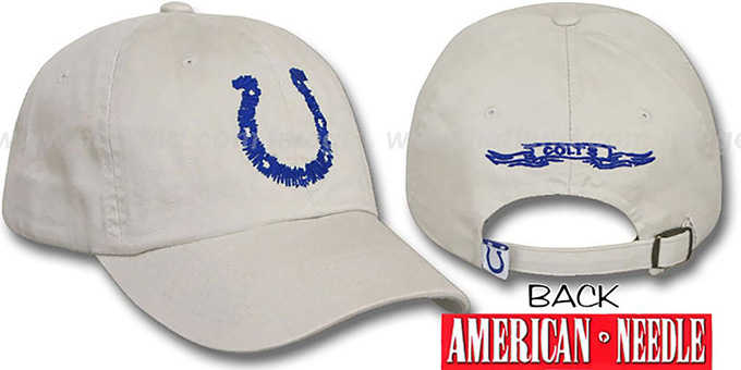 Colts 'SKETCH' Hat by American Needle - stone : pictured without stickers that these products are shipped with