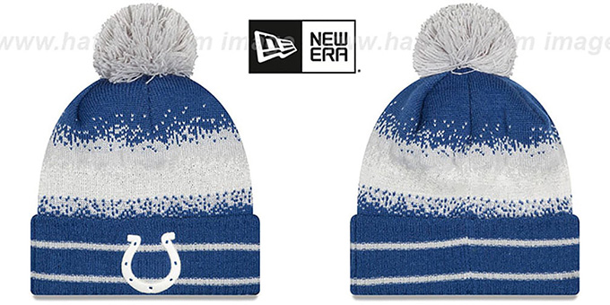 Colts 'SPEC-BLEND' Knit Beanie Hat by New Era : pictured without stickers that these products are shipped with