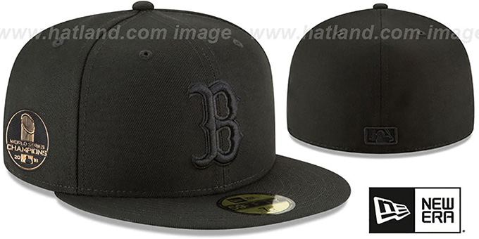 997391d77465d Red Sox  2018 WORLD SERIES  CHAMPIONS Black-Black Hat by ...