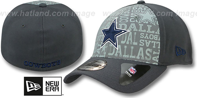Cowboys '2014 NFL DRAFT FLEX' Charcoal Hat by New Era : pictured without stickers that these products are shipped with
