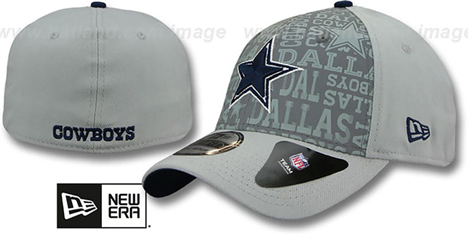 Cowboys '2014 NFL DRAFT FLEX' Grey Hat by New Era : pictured without stickers that these products are shipped with