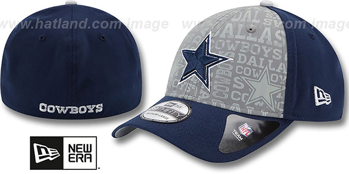 Cowboys '2014 NFL DRAFT FLEX' Navy Hat by New Era : pictured without stickers that these products are shipped with