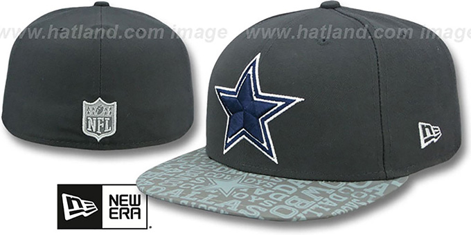 Cowboys '2014 NFL DRAFT' Grey Fitted Hat by New Era : pictured without stickers that these products are shipped with