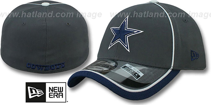 Cowboys '2014 NFL STADIUM FLEX' Graphite Hat by New Era : pictured without stickers that these products are shipped with