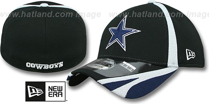 Cowboys '2014 NFL TRAINING FLEX' Black Hat by New Era : pictured without stickers that these products are shipped with