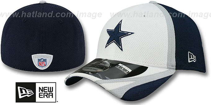 Cowboys '2014 NFL TRAINING FLEX' White Hat by New Era : pictured without stickers that these products are shipped with