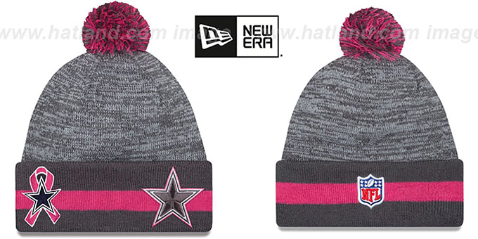 Cowboys '2015 BCA' Knit Beanie Hat by New Era : pictured without stickers that these products are shipped with