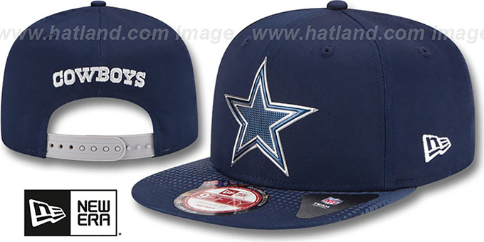 Cowboys '2015 NFL DRAFT SNAPBACK' Navy Hat by New Era : pictured without stickers that these products are shipped with