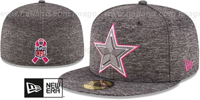 Cowboys '2016 HIGH-CROWN BCA' Grey Fitted Hat by New Era : pictured without stickers that these products are shipped with