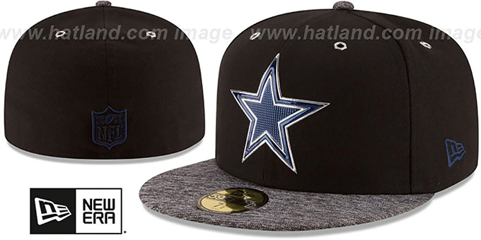 Cowboys '2016 MONOCHROME NFL DRAFT' Fitted Hat by New Era : pictured without stickers that these products are shipped with