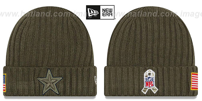 Cowboys  2017 SALUTE-TO-SERVICE  Knit Beanie Hat by ... 48900abc0