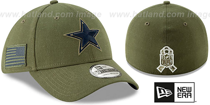 39f9137d25f Cowboys  2018 SALUTE-TO-SERVICE FLEX  Olive Hat by New Era