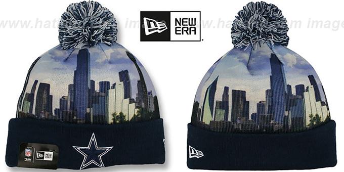 47d613acea9dd Dallas Cowboys ALLOUT CITY Knit Beanie Hat by New Era