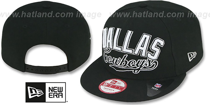 Cowboys 'ARCH BLOCK CITY SNAPBACK' Black Hat by New Era : pictured without stickers that these products are shipped with