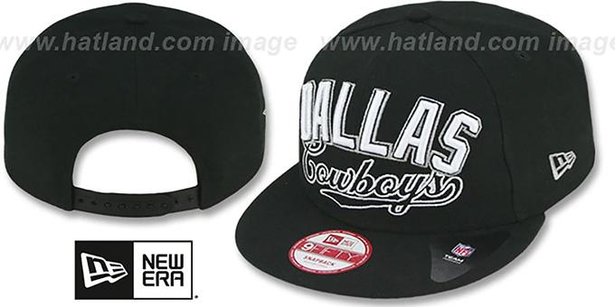 9e6ac1e59e203 Dallas Cowboys ARCH BLOCK CITY SNAPBACK Black Hat by New Era