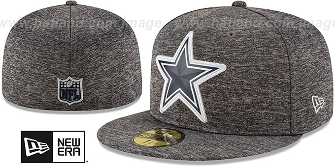 Cowboys 'BEVEL' Heather Grey Fitted Hat by New Era : pictured without stickers that these products are shipped with