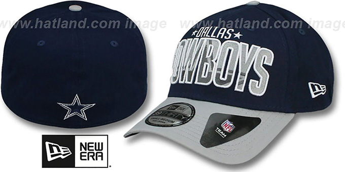Cowboys 'CHOPPING BLOCK FLEX' Hat by New Era : pictured without stickers that these products are shipped with