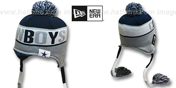 Cowboys 'CRAYON BOX' Knit Beanie Hat by New Era : pictured without stickers that these products are shipped with