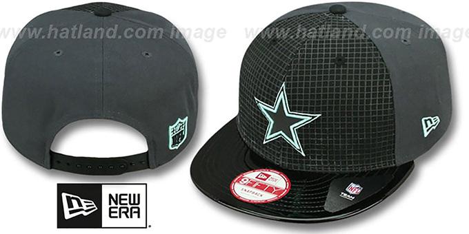 fa42ea0de02571 Cowboys GREEN-GLOW SNAPBACK Black-Charcoal Hat by New Era