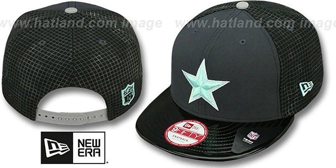 49d303223 Cowboys  GREEN-GLOW SNAPBACK  Charcoal-Black Hat by New Era