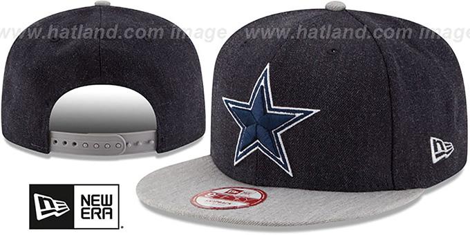 2abb0de5 Dallas Cowboys HEATHER ACTION SNAPBACK Navy-Grey Hat by New Era