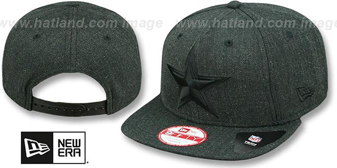 Cowboys  HEATHER TOTAL-TONE SNAPBACK  Black Hat by ... 2206b36ca81